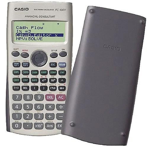 Casio Financial Calculator Silver FC-100V-UM - HuntOfficeie Ireland