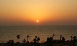 Sonnenuntergang am Strand bei Hurghada