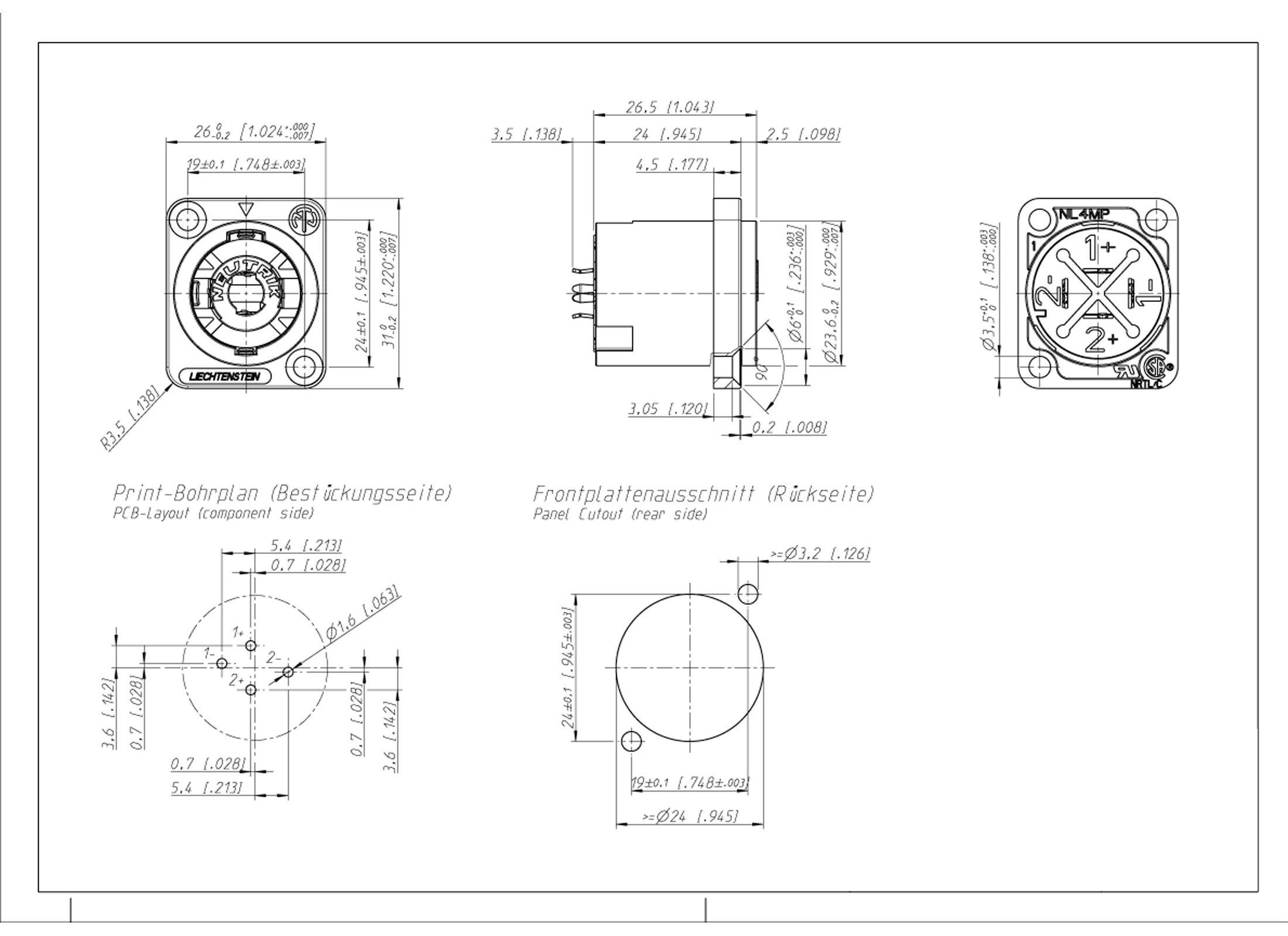 speakon jack wiring diagram