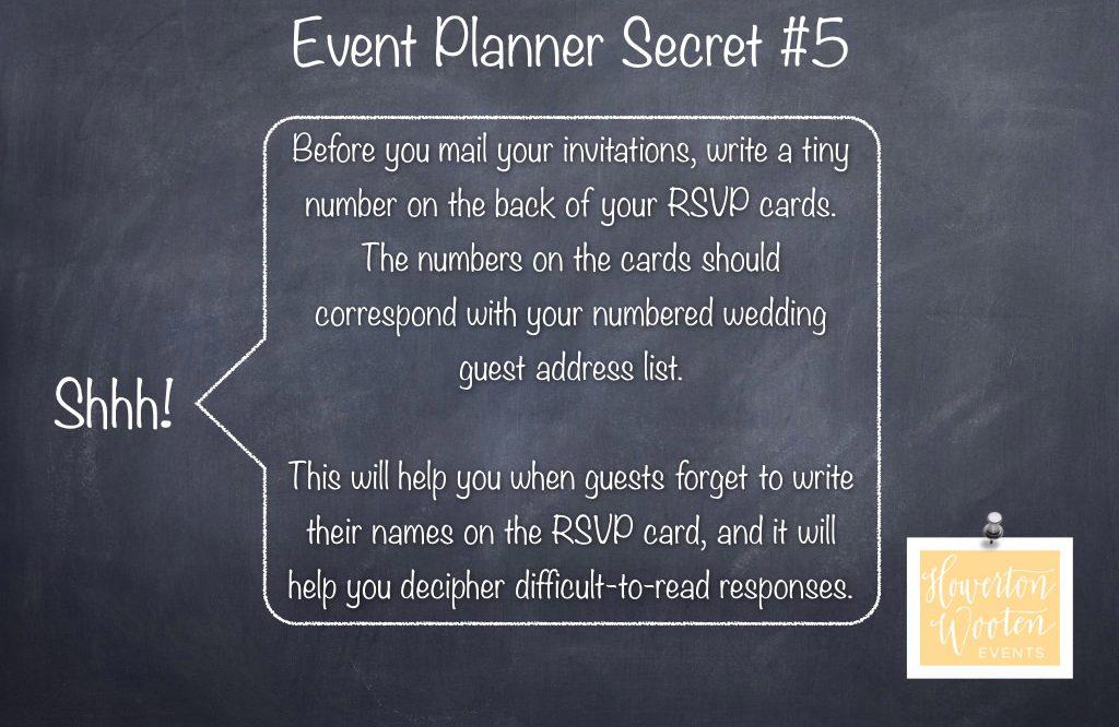 Event Planner Secret, Number Your RSVP Cards - Howerton+Wooten Events