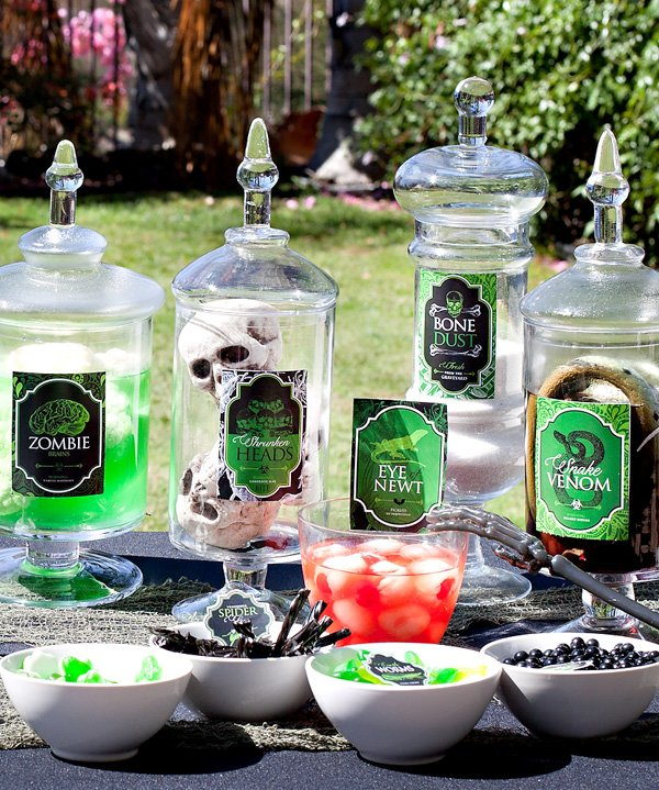 Spells and Potions Halloween Creepy Jars  Candy Labels {Free