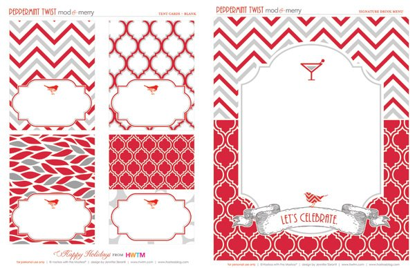 FREE Holiday Printables Peppermint Twist   Hostess with the Mostess®