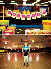 Neon Roller Skate Party // Hostess with the Mostess