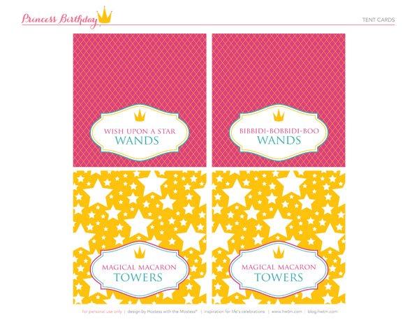 FREE Printables Sparkly Disney Princess Birthday Party   Hostess