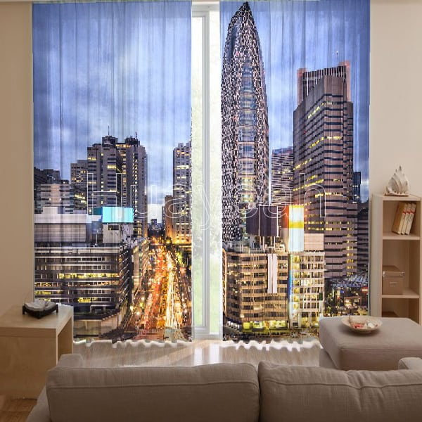 3d House Wallpaper Room 3d Digital Print Curtains