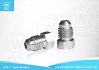 Carbon Steel JIC Male Plug Thread Adapter , Hydraulic Hose