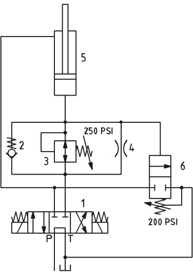 simple hydraulic circuit