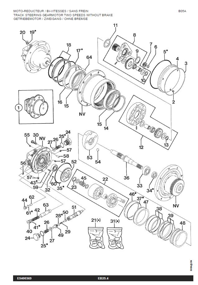 bobcat schema moteur mecanisme