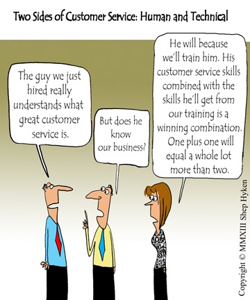 The Two Sides of Customer Service Training Human and Technical