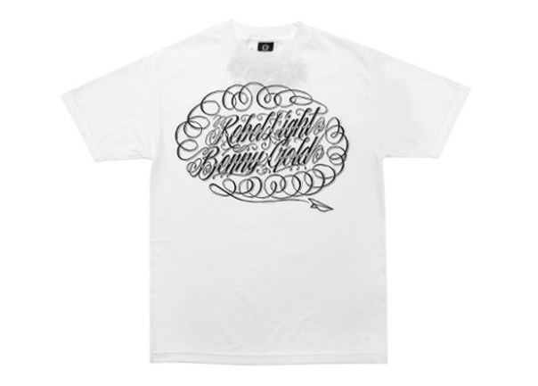 benny gold rebel8 online exclusive script tshirt 1 Benny Gold x REBEL8 Online Exclusive Script T shirt