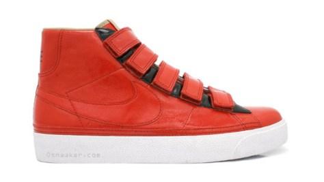 nike sportswear blazer ac high red velcro 1 Nike Sportswear Blazer AC High LE Red Velcro