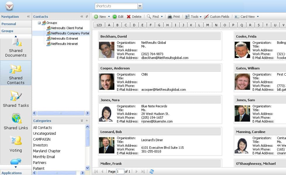 Online Address Book Small Business CRM