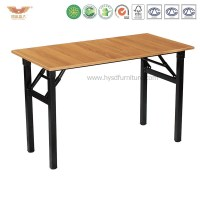 Modern Folding Computer Desk Training Table Straight Desk