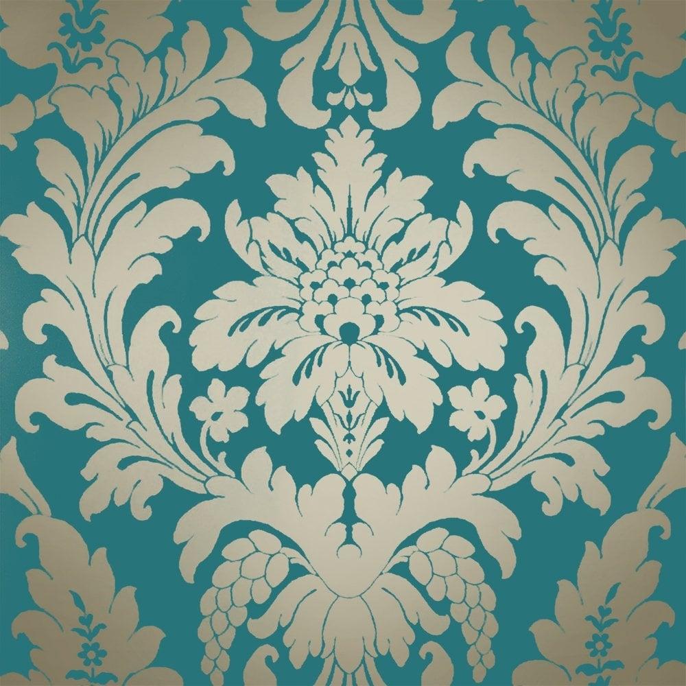 Exciting G Comforter Shimmer Metallic Damask Wallpaper Rich G I Love Wallpaper Shimmer Metallic Damask Wallpaper Rich G Room houzz-02 Teal And Gold
