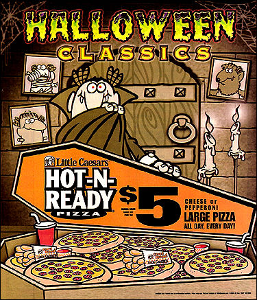 little-caesars-halloween06jpg (375×437) Vintage Ads Halloween - cereal box book report sample