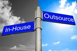 Content marketing - outsource and in-house