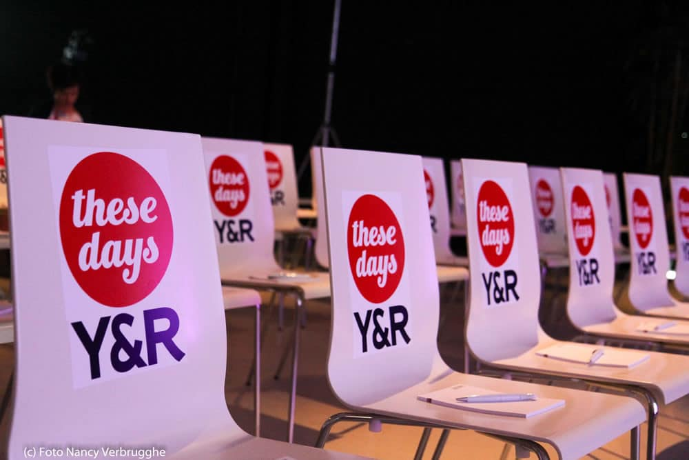 Reserved seats for the sponsors of the Social Business Sessions – These Days Young and Rubicam – picture Nancy Verbrugghe