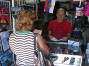 Михаил Шмаков в своем магазине