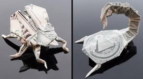 Галерея оригами из долларов (9)