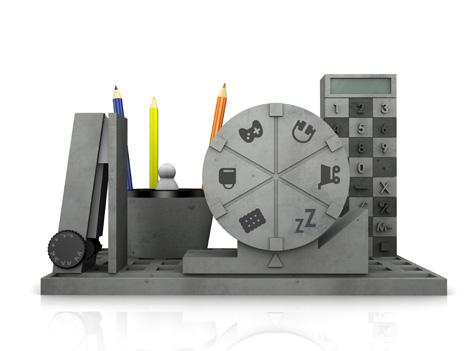 Креативный набор веселых канцтоваров REconstruction из бетона (4)
