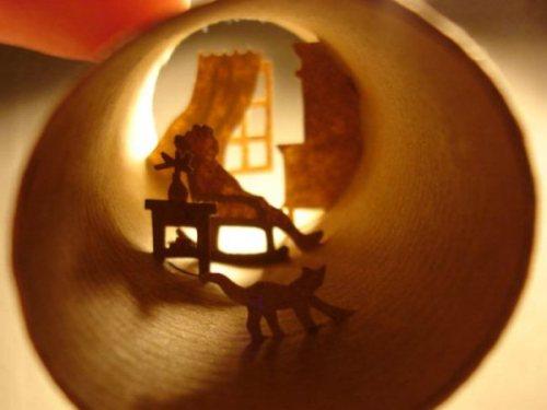 Современное искусство: миниатюрные миры в рулонах из-под туалетной бумаги (4)