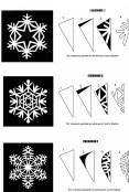 Схемы для вырезания новогодних снежинок из бумаги для украшения офиса (5)