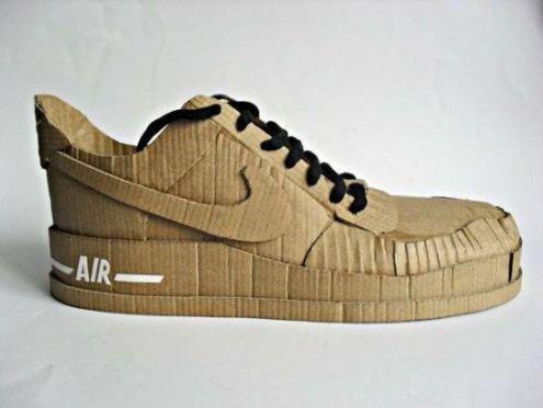 """Кроссовки из картона """"Nike Air from cardboard"""""""