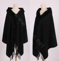 Buy Wholesale 100% Wool Wraps Rabbit Fur Scarf Shawls ...