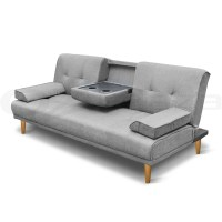 Linen Fabric/PU Leather Sofa Couch Outdoor Lounges Futon