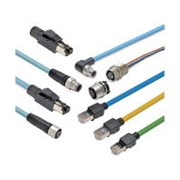 XS5, XS6 Industrial Ethernet Cables/Dimensions