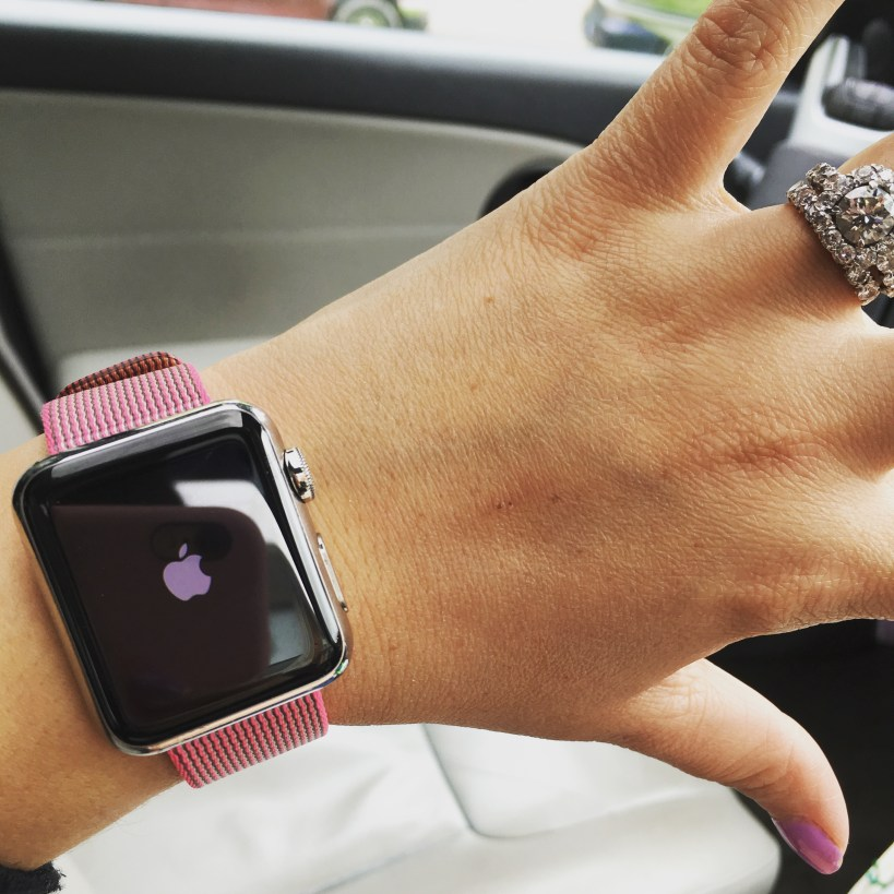 I Adore What I Love Blog // HOT PINK PERFECTION // Pink Woven Apple Watch Band // www.iadorewhatilove.com #iadorewhatilove