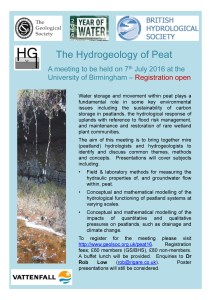 The hydrogeology of peat_Birmingham University_July 2016_Registration_1