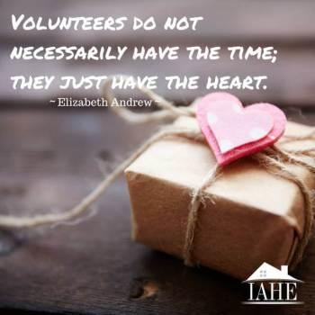 Volunteers have heart