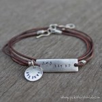 leather wrap believe and let go bracelet