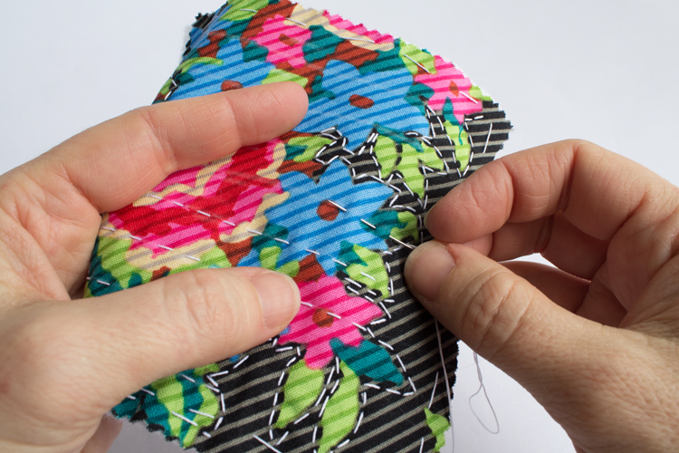 hand stitched sachets quilting straight