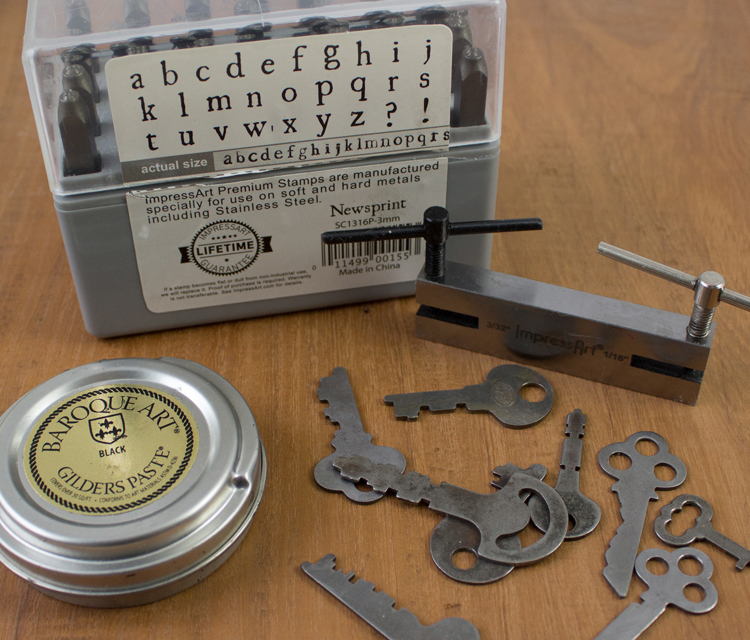 stamped key materials