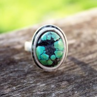 Epoxy Clay Turquoise Ring