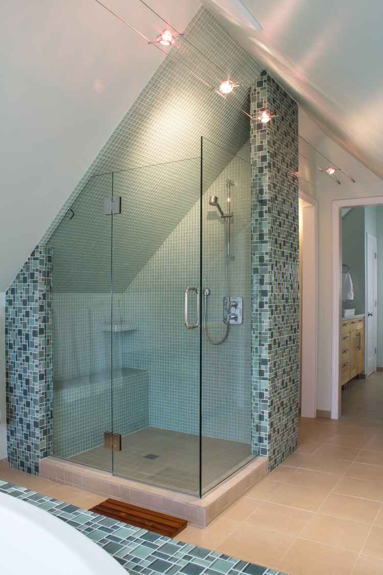 custom attic shower