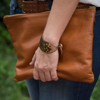 Ombre Beaded Leather Cuff DIY
