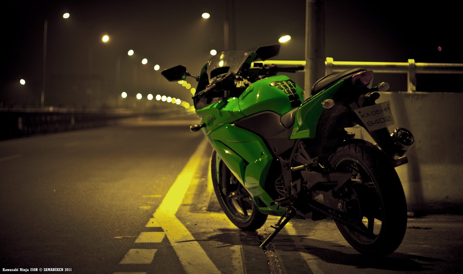 Ninja 250R wallpaper - Happy Diwali 04 IAMABIKER