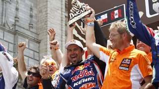 Cyril Despres takes home the Dakar 2012 Trophy