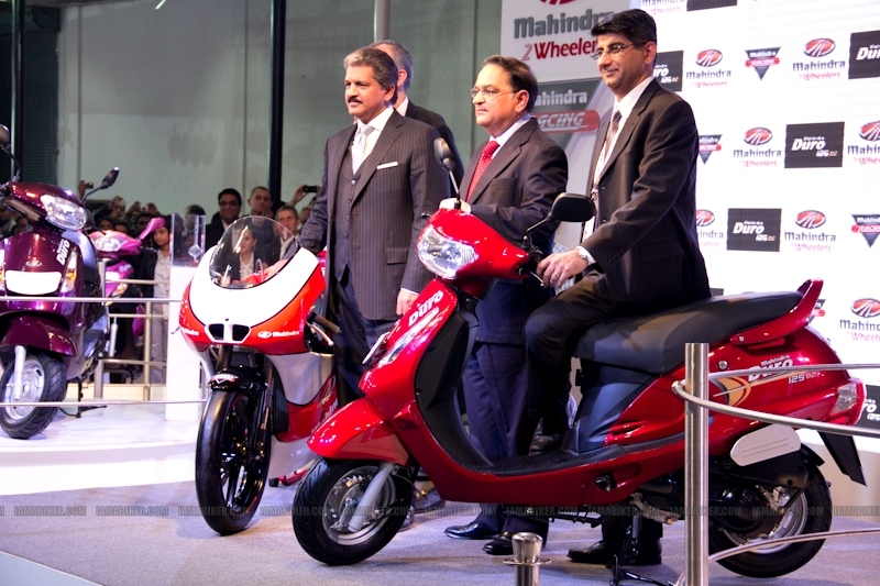 Mahindra 2 wheelers Auto Expo 2012