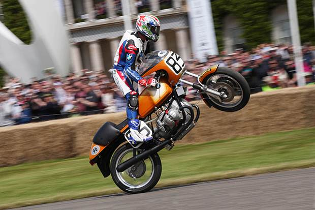 Troy Corser  1976 BMW R 90 S Goodwood Festival