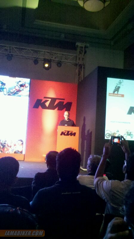 Amit Nandi at KTM Duke 390 launch