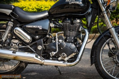 Royal Enfield Thunderbird 500 engine kick starter side
