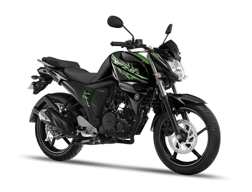 Yamaha FZ-S colour options - cyber-green