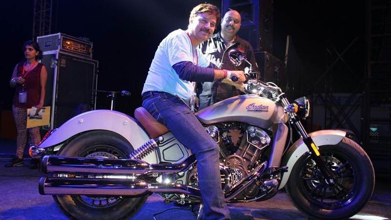 Indian Scout at Bike Festival of India