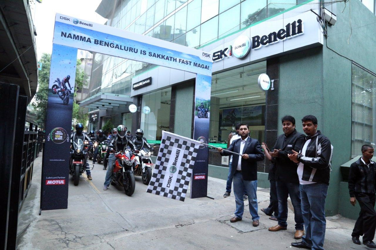 DSK Benelli Bangalore Ride Flag Off