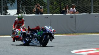 Motorcycle racing - Lorenzo Iannone crash