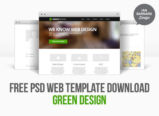 Free PSD Web Template Mockup \u2013 IAN BARNARD